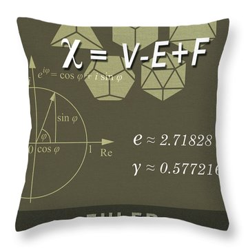 Science Posters - Leonhard Euler - Mathematician, Physicist, Engineer Throw Pillow