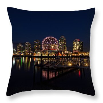 Science World Nocturnal Throw Pillow