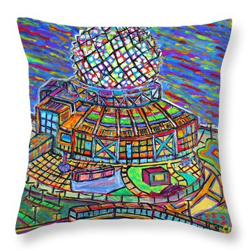 Science World, Vancouver, Alive In Color Throw Pillow by Jeremy Aiyadurai