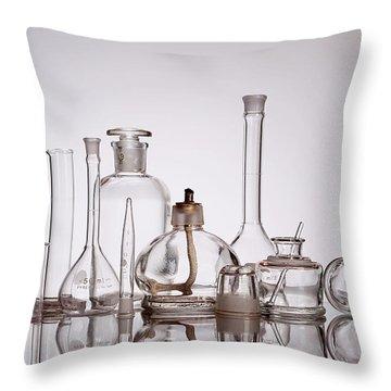 Scientific Glassware Throw Pillow