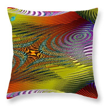 Scirocco Throw Pillow by Mathilde Vhargon