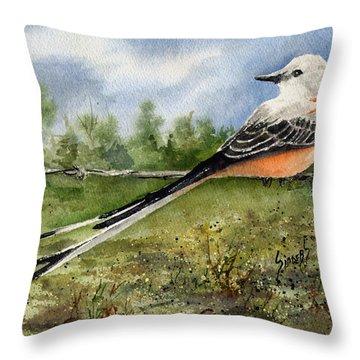 Scissor-tail Flycatcher Throw Pillow