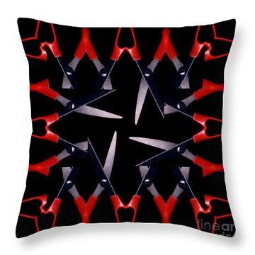 Scissors Throw Pillow