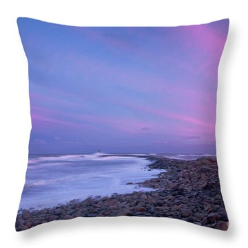 Scituate Sunset  Throw Pillow by Susan Cole Kelly