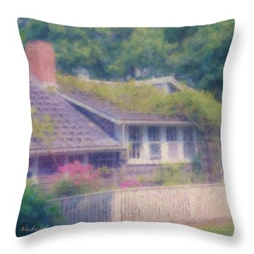 Sconset Cottage #3 Throw Pillow