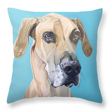 Scooby Throw Pillow by Nathan Rhoads