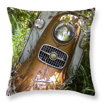 Scooter Rabbit Throw Pillow