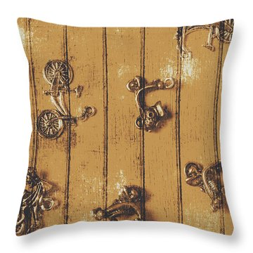 Scooter Shed  Throw Pillow