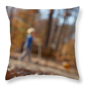 Throw Pillow featuring the photograph Scootering At The Park by Greg Collins