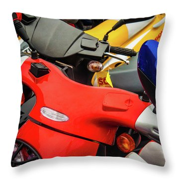 Throw Pillow featuring the photograph Scooters II by Samuel M Purvis III