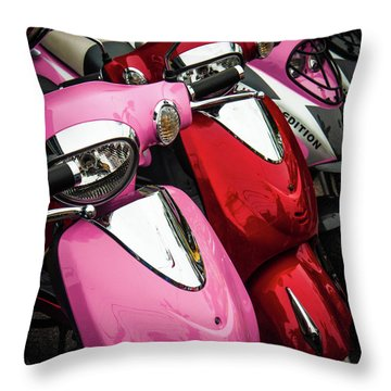 Throw Pillow featuring the photograph Scooters by Samuel M Purvis III
