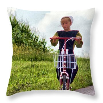 Scootin' Throw Pillow