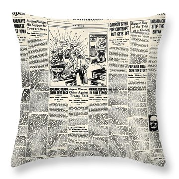 Scopes Trial, 1925 Throw Pillow by Granger