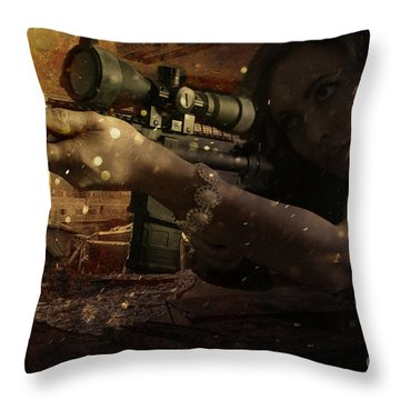 Scopped Throw Pillow