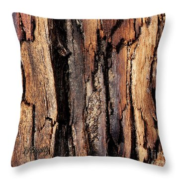 Scorched Timber Throw Pillow