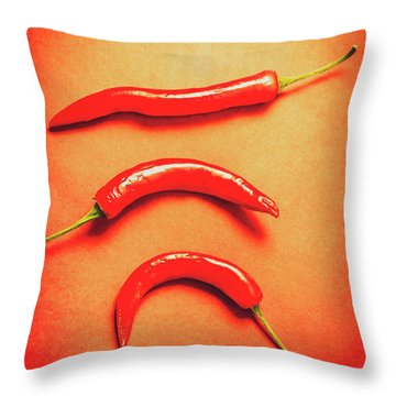 Scorching Food Background Throw Pillow
