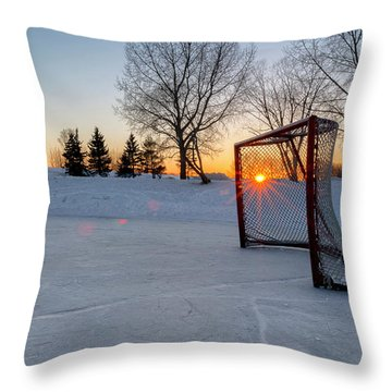 Throw Pillow featuring the photograph Scoring The Sunset 2 by Darcy Michaelchuk