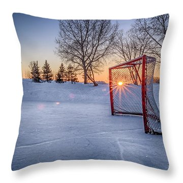 Throw Pillow featuring the photograph Scoring The Sunset 3 by Darcy Michaelchuk