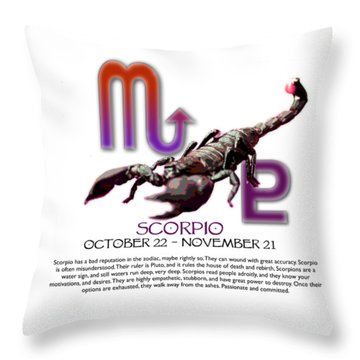 Scorpio Sun Sign Throw Pillow