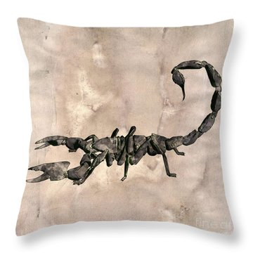 Scorpion Pop Art By Mary Bassett Throw Pillow