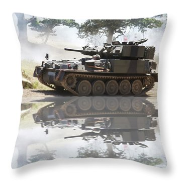 Scorpion Reflection Throw Pillow