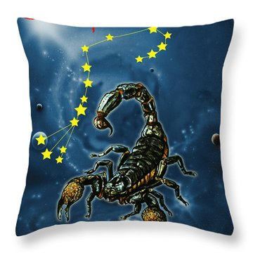 Scorpius And The Stars Throw Pillow