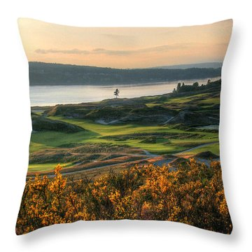 Scotch Broom -chambers Bay Golf Course Throw Pillow