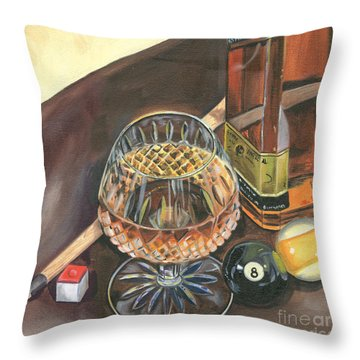 Scotch Cigars And Pool Throw Pillow