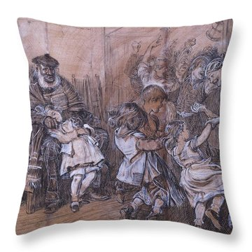 Scotch Scene Throw Pillow
