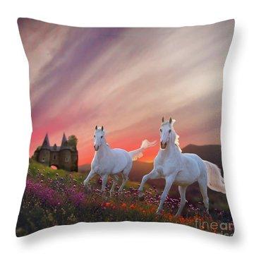 Scotland Fantasy Throw Pillow