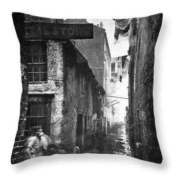Scotland: Glasgow, 1868 Throw Pillow