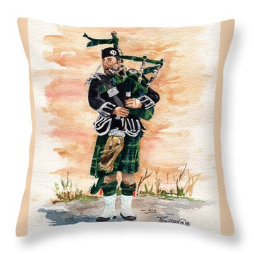 Scotland The Brave Throw Pillow