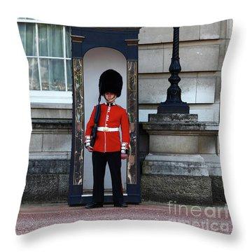 Scots Guard Buckingham Palace Throw Pillow