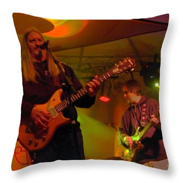 Scott And Jeff At Wormtown Throw Pillow by Jesse Ciazza