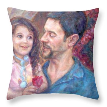 Scott And Sam Commission Throw Pillow
