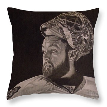 Scott Darling Portrait Throw Pillow