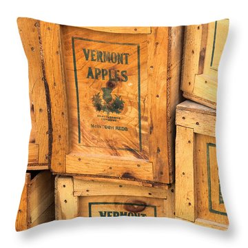 Scott Farm Apple Boxes Throw Pillow