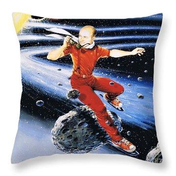 Scott Hamilton Skates The Stars Throw Pillow