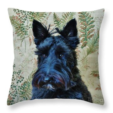 Throw Pillow featuring the photograph Scottie by Michele Penner