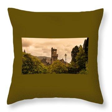 Scottish Abbey Throw Pillow