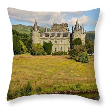 Scottish Countryside Throw Pillow