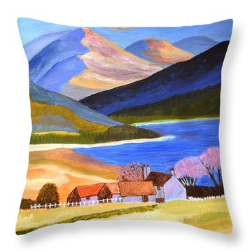 Scottish Highlands 2 Throw Pillow