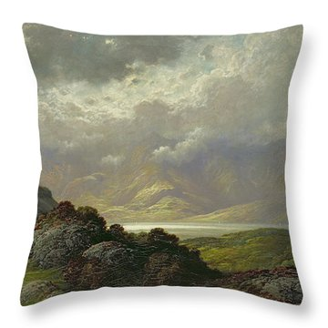 Scottish Landscape Throw Pillow
