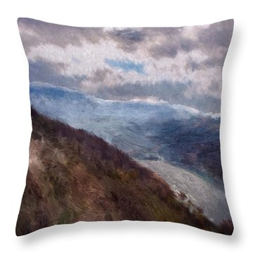 Throw Pillow featuring the painting Scottish Landscape by Mark Taylor