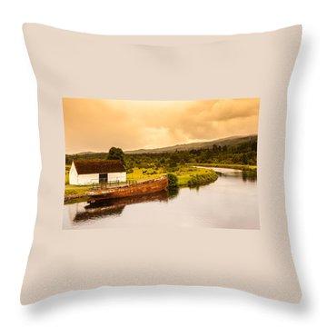 Scottish Loch 2 Throw Pillow