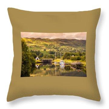 Scottish Loch 3 Throw Pillow