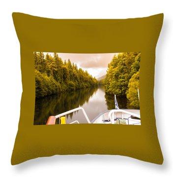 Scottish Loch 4 Throw Pillow