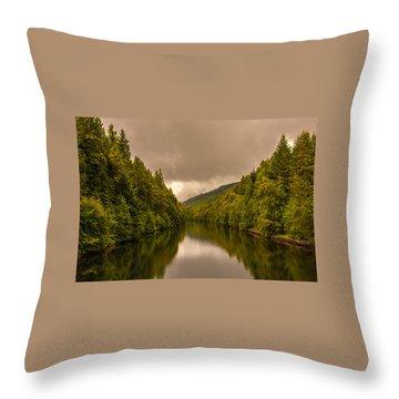 Scottish Loch 5 Throw Pillow