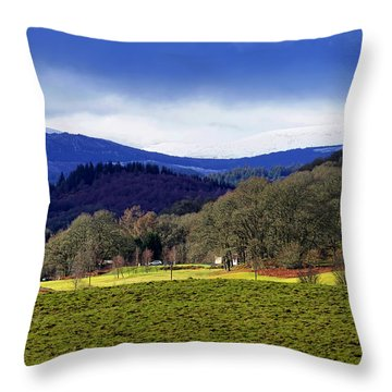 Throw Pillow featuring the photograph Scottish Scenery by Jeremy Lavender Photography
