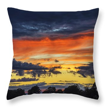 Throw Pillow featuring the photograph Scottish Sunset by Jeremy Lavender Photography